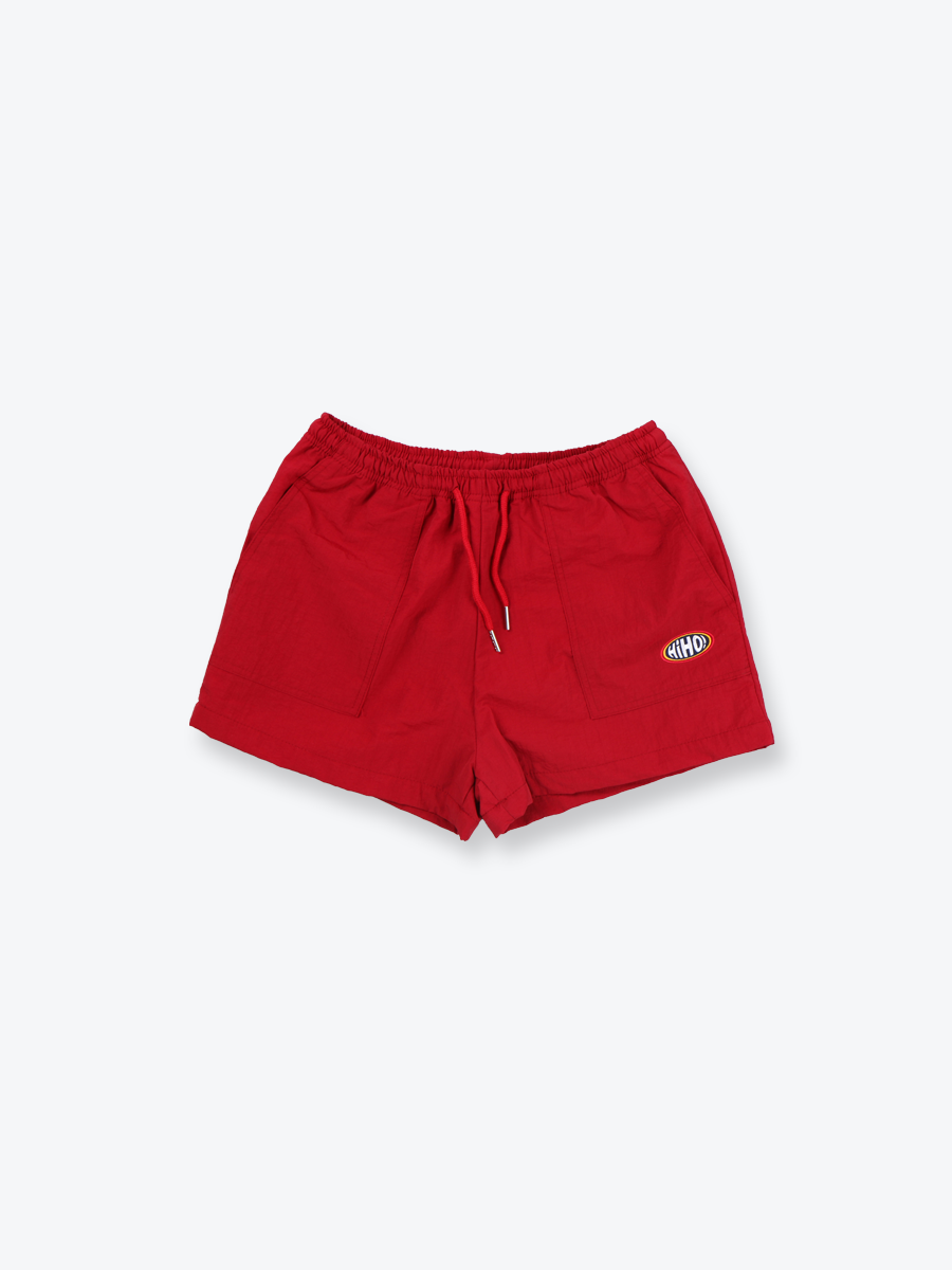 NYLON TRACK SHORTS_red