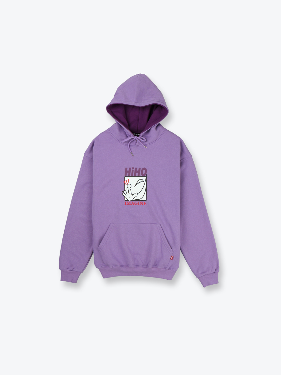 imagine HOODIE_purple[기모]